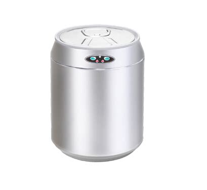 small kitchen garbage cans 6l mini cans shape stainless steel garbage touchless