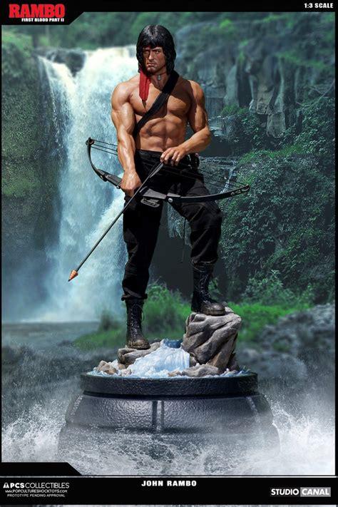 rambo film order pop culture shock previews new rambo statue figures com