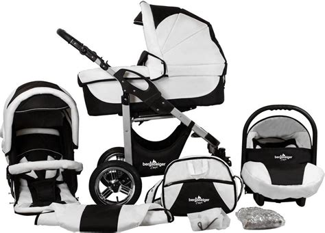 Black Set 3in1 bergsteiger kombi kinderwagen 10 tlg 187 black