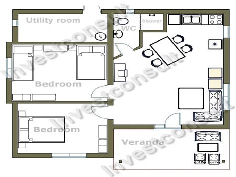Floor Plan For 2 Bedroom House by Small Two Bedroom House Floor Plans Small Two Bedroom