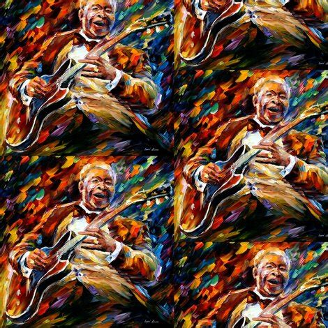 Bb King Kanvas Wpap bb king fabric afremov designs spoonflower