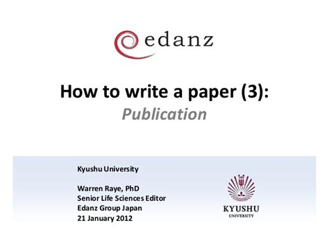 how to write paper for publication how to write a paper for publication in a journal 28