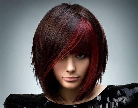 dark red color hair cut orange county newport beach hair color cut trends for