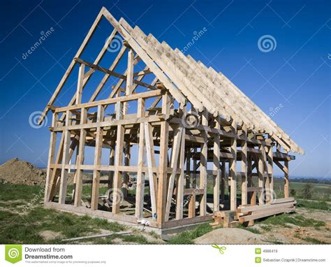 framing a house wooden house frame stock image image of house framework 4986419