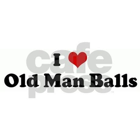 i love old man balls bbq apron by customhearts