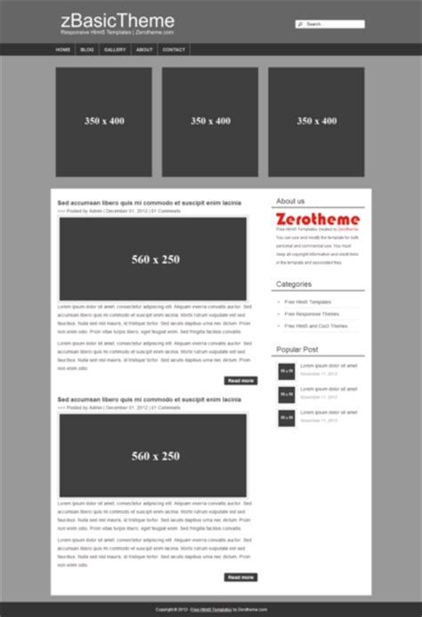simple html5 template zbasic002 free basic html5 responsive template responsive
