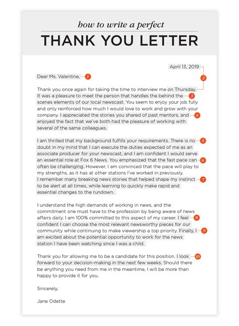 sle of thank you letter thank you letter after phone for