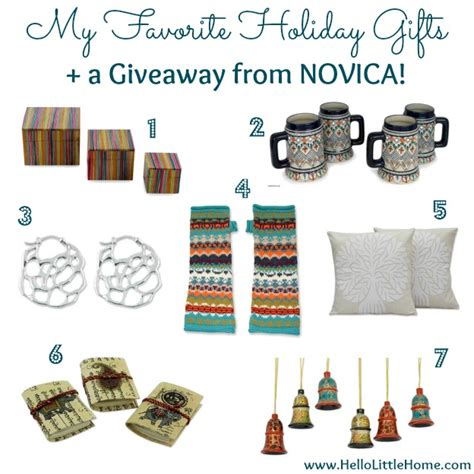 Giveaways Gifts - my favorite holiday gifts a giveaway from novica