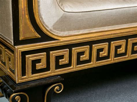 key bench neoclassical style greek key bench or sofa at 1stdibs