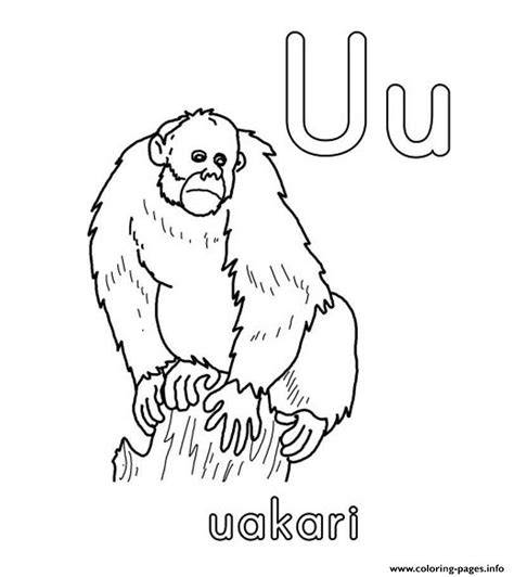 coloring pages info uakari alphabet s free62ce coloring pages printable