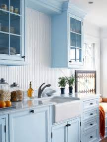 Kitchen With Blue Cabinets Cottage Kitchens