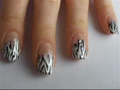 nail art tutorial animal print nail art tutorial animal print zebra youtube