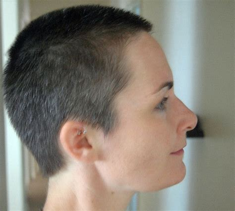 one to two inches short hairs for women haircut after jpg by galendara via flickr girl buzzcuts