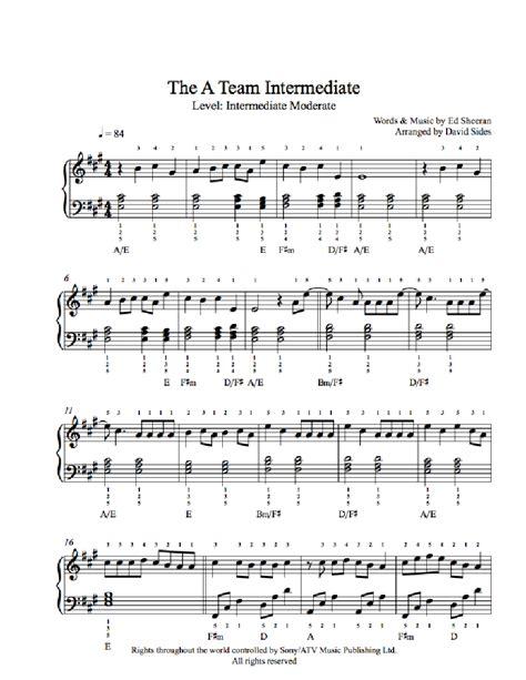 theme song a team the a team by ed sheeran piano sheet music intermediate