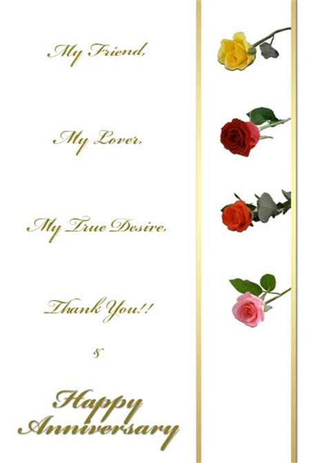 printable anniversary cards him free printable roses cards