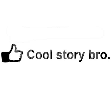 T Shirt Cool Story Bro High Quality cool story bro vinyl sticker sykvinyls