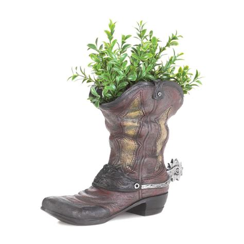 Large Cowboy Boot Planter by Spurred Cowboy Boot Planter Wholesale At Koehler Home