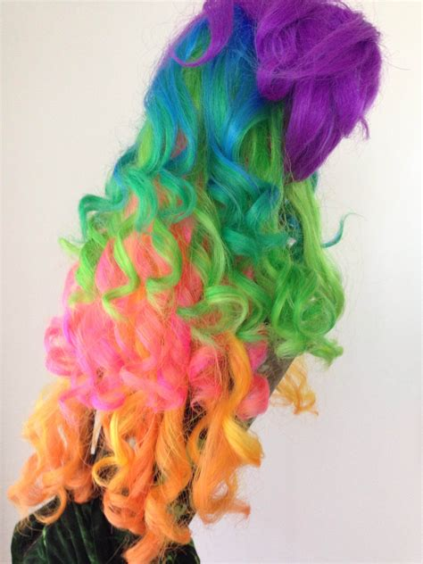 Plastic Rainbow Hairthings | how to make that cheap plastic wig look good ashley f