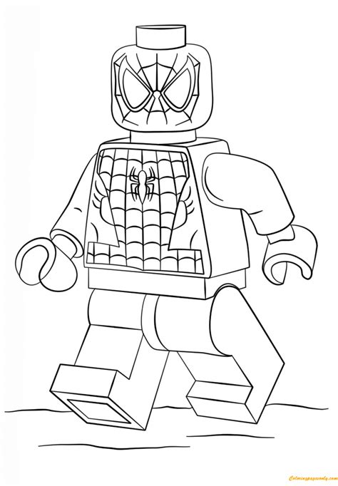 free coloring pages lego superheroes lego super heroes spiderman coloring page free coloring