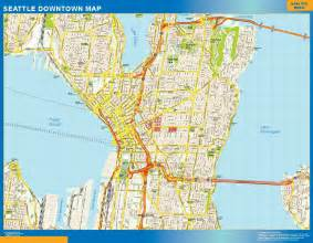 Street Map Of Seattle by Street Maps Usa Wall Maps Of The World