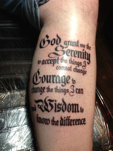 tattoo by me serenity prayer by me tats