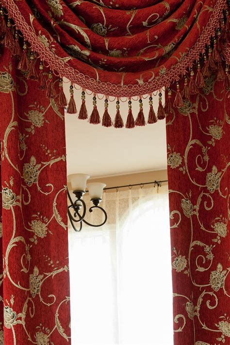 red curtain valances louis xvi royal red swag valances curtain drapes