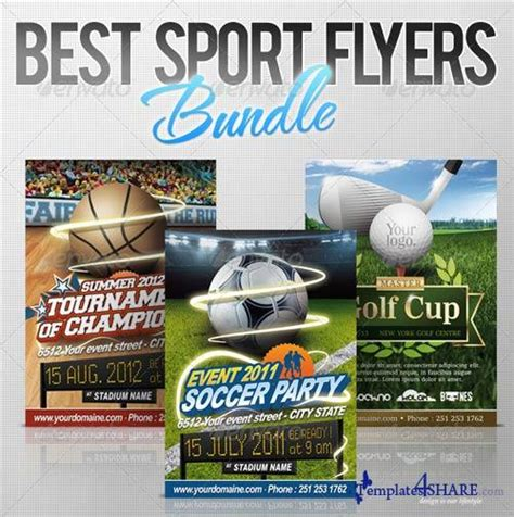 psd sports templates graphicriver best sport flyers bundle 187 templates4share
