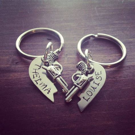 thelma and louise tattoos silver broken hearts sted thelma and louise key chains