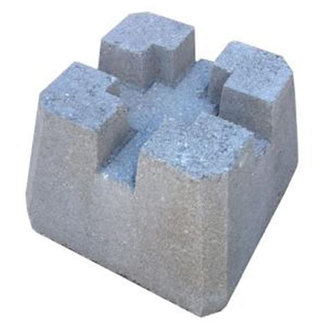 10 in. x 10 in. x 10 in. Concrete Deck Block 55N1AN   The Home Depot