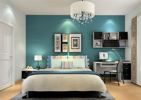 teal accent wall living room