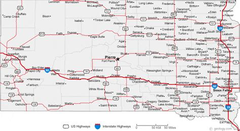 dakota road map with cities map of south dakota cities south dakota road map