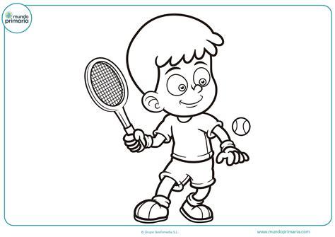imagenes de niños jugando tenis para colorear dibujos de tenis para colorear mundo primaria