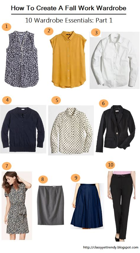 how to create a fall work wardrobe 10 wardrobe essentials