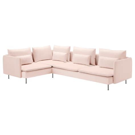 light pink sofa s 214 derhamn corner sofa 2 1 samsta light pink 291x198 cm ikea