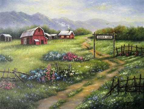 country farm paintings with barn country farm painting farm painting barn by