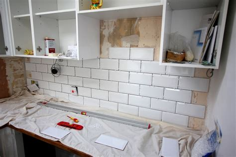 my kitchen renovation part 4 tiling the walls wild tide
