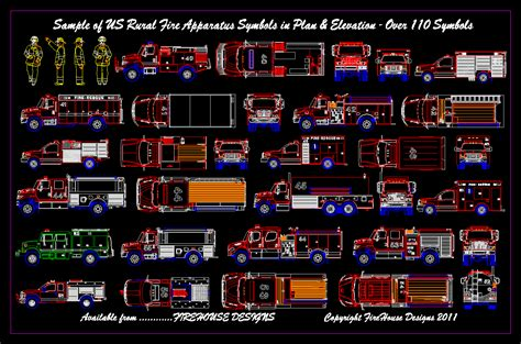 truck templates for autocad autocad block libraries firehouse deisgns david george