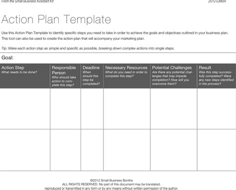 Free action plan form doc pdf 2 page s
