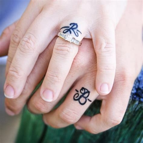 35 sweet amp simple wedding band tattoos