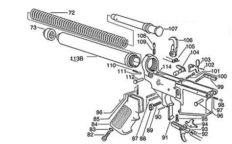 ar15 lower parts with schematic