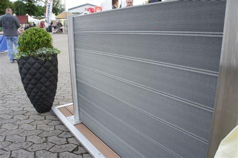 Sichtschutz Garten Guenstig 4 by Wpc Sichtschutz Zaun Set Alu 4 M Wpc Dielen Zaun Shop
