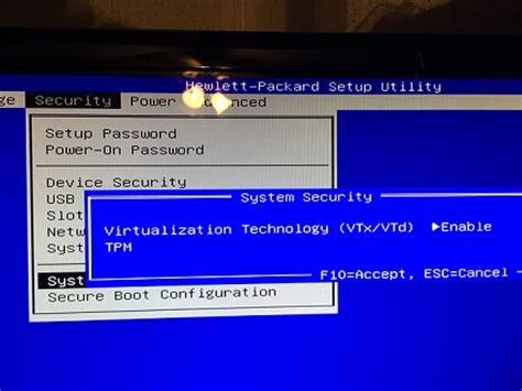 reset bios hp envy how to access bios to enable the vt x setting on a hp envy