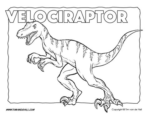 Coloring Page Velociraptor by Free Printable Dinosaur Coloring Pages For Tim S