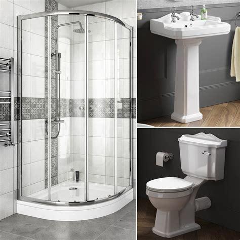 bathroom suites with shower enclosures complete bathroom suite quadrant shower enclosure with