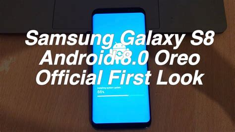 samsung galaxy s8 android oreo 8 0 0 beta with experience ui 9 0 look