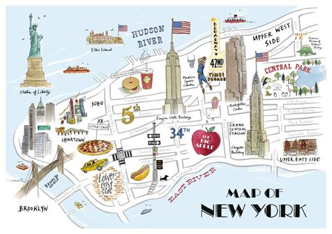 tourist map new york maps update 7421539 tourist attractions map in new york