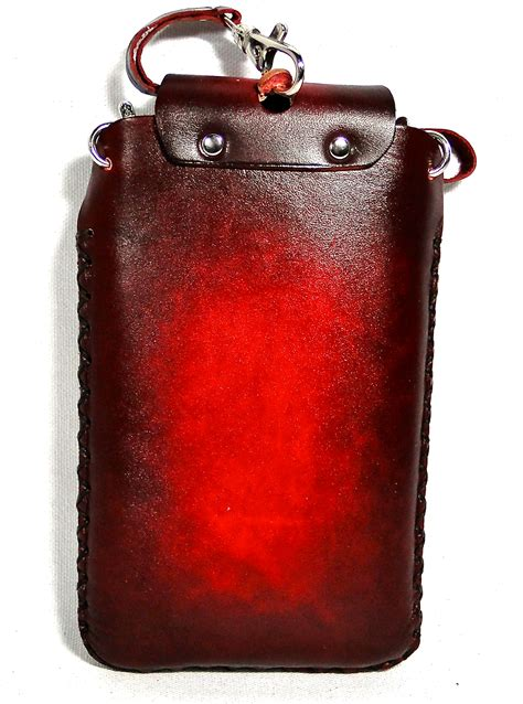 Handmade Leather Cell Phone Cases - genuine leather skull handmade large cell phone