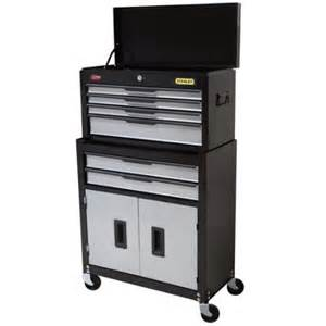 stanley professional tool chest cabinet combo 6 drw