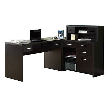 Office Depot Computer Desks by Monarch Specialties L Shaped Computer Desk With Hutch