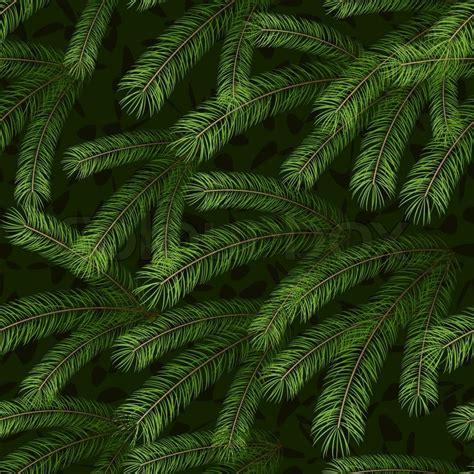 christmas tree fir branch seamless background stock